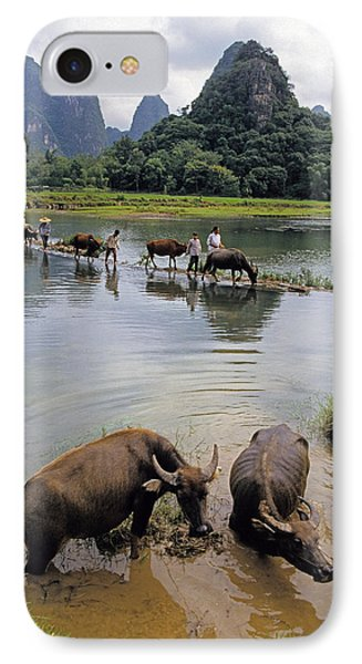 Guangxi Crossing 3 IPhone Case by Dennis Cox ChinaStock