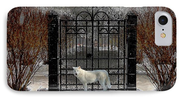 Guardian Of The Gate IPhone Case by Michael Rucker
