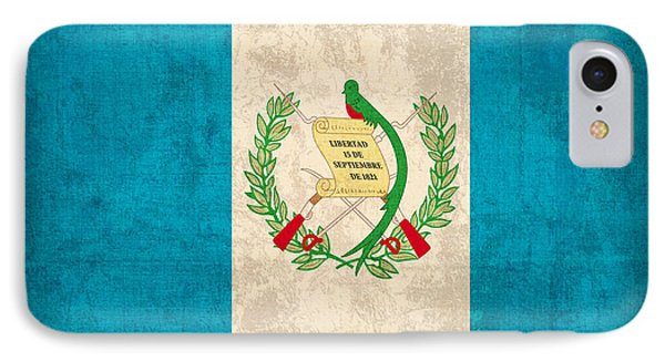 Guatemala Flag Vintage Distressed Finish IPhone Case by Design Turnpike