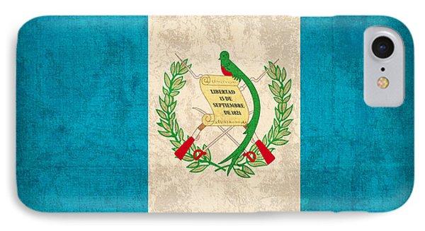 Guatemala Flag Vintage Distressed Finish Phone Case by Design Turnpike