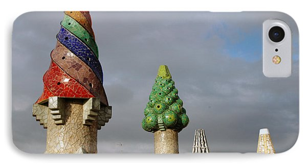 Guell Treetops Phone Case by Kathy Schumann