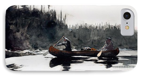Guides Shooting Rapids Phone Case by Winslow Homer