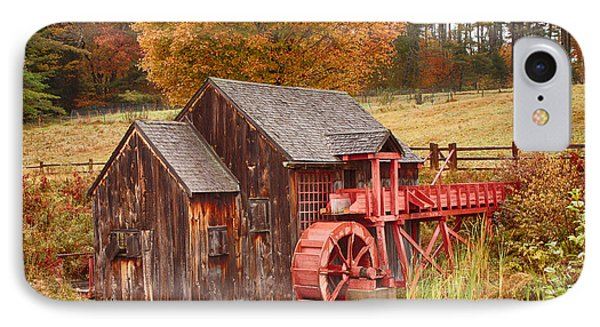 IPhone Case featuring the photograph Guildhall Grist Mill by Jeff Folger