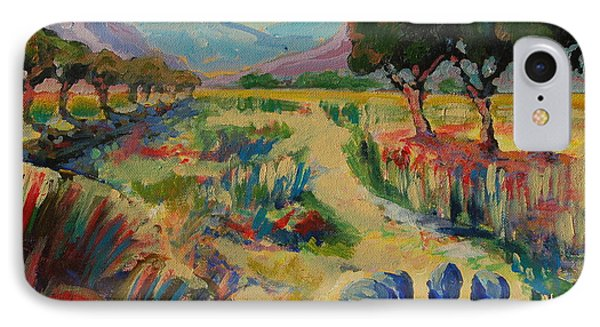 IPhone Case featuring the painting Guinea Fowl In Extensive Landscape by Thomas Bertram POOLE