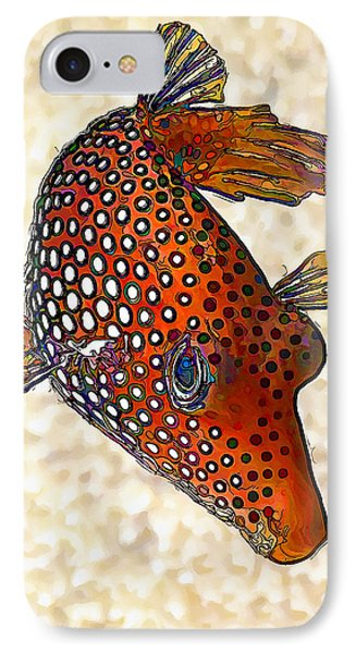 Guinea Fowl Puffer Fish IPhone Case by ABeautifulSky Photography