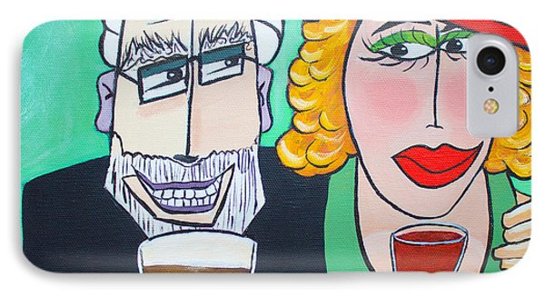 Guinness Man With The Woman Of His Dreams IPhone Case by Barbara McMahon
