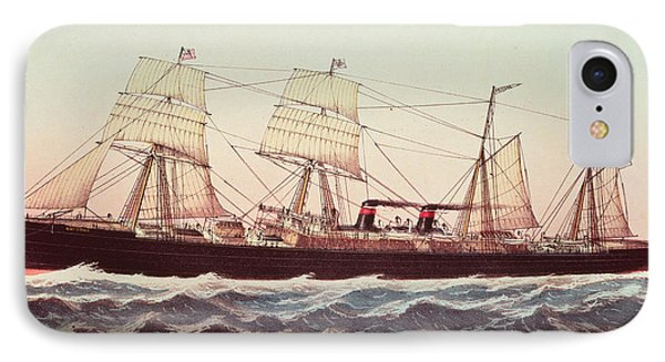 Guion Line Steampship Arizona Of The Greyhound Fleet IPhone Case