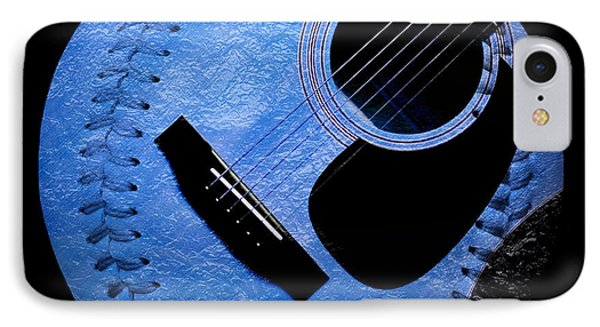 Guitar Blueberry Baseball Square Phone Case by Andee Design