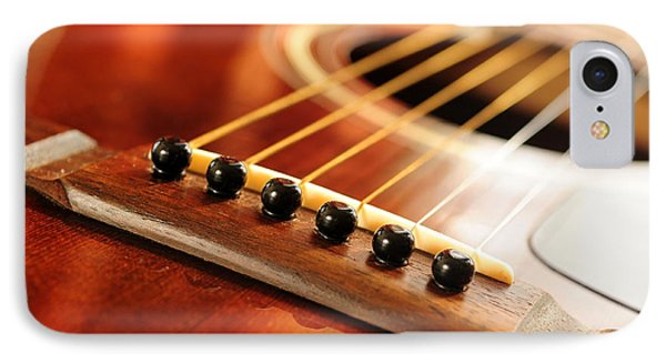 Guitar Bridge IPhone Case by Elena Elisseeva