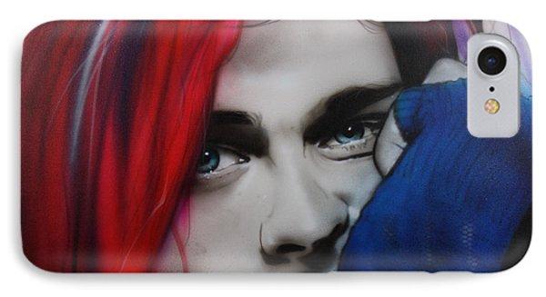 Kurt Cobain - ' Guitar Demolition ' IPhone Case by Christian Chapman Art