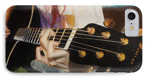 Guitar Drawing Phone Case by Savanna Paine