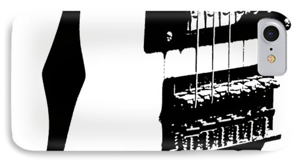 Guitar Graphic In Black And White  Phone Case by Chris Berry