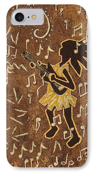 Guitar Player Phone Case by Katherine Young-Beck