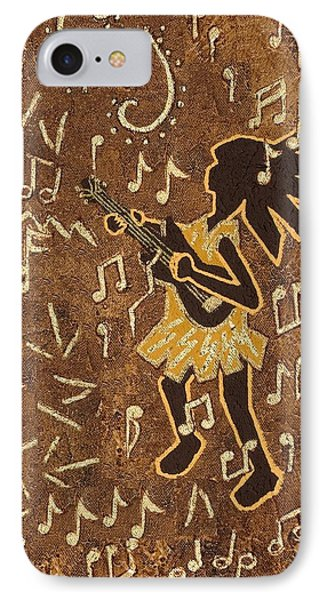 Guitar Player IPhone Case by Katherine Young-Beck