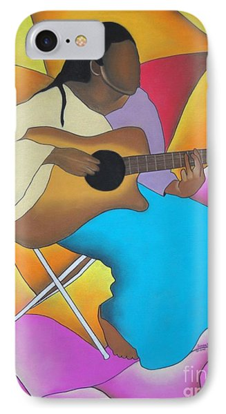 Guitar Player Phone Case by Sonya Walker