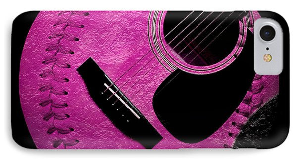 Guitar Raspberry Baseball Phone Case by Andee Design