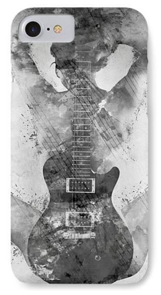 Guitar Siren In Black And White IPhone 7 Case by Nikki Smith