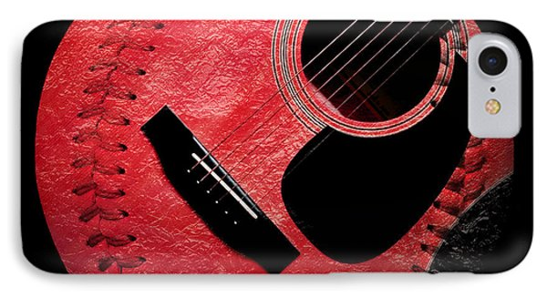 Guitar Strawberry Baseball Phone Case by Andee Design