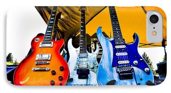 Guitar Trio IPhone Case by David Patterson