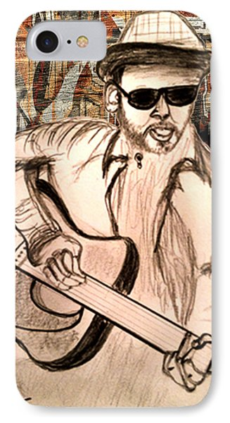 Guitarist IPhone Case by Barbara Giordano