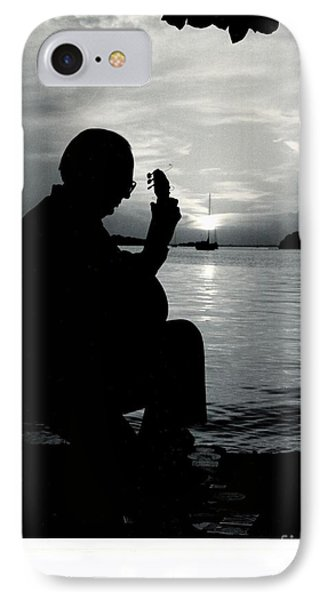 Guitarist By The Sea IPhone Case