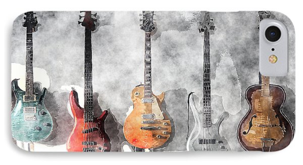 Guitars On The Wall IPhone Case by Arline Wagner