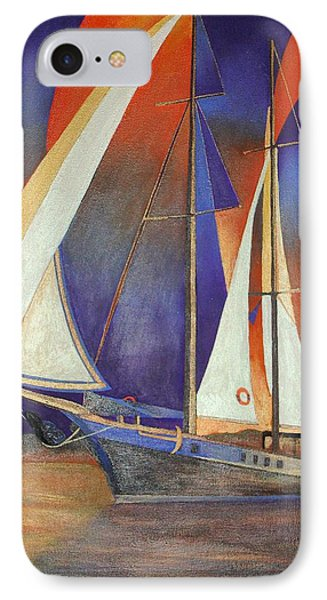 Gulet Under Sail IPhone Case by Tracey Harrington-Simpson