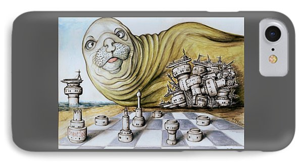 Gulf Coast Chess - Cartoon Art IPhone Case by Art America Online Gallery