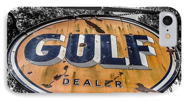 Gulf Dealer Sign Phone Case by Steven  Taylor
