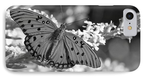 Gulf Fritillary Black And White IPhone Case