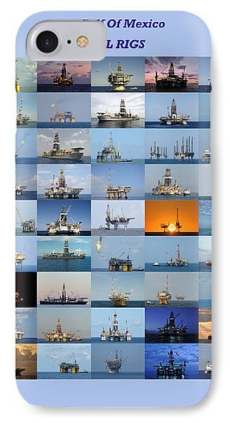 Gulf Of Mexico Oil Rigs Poster IPhone Case