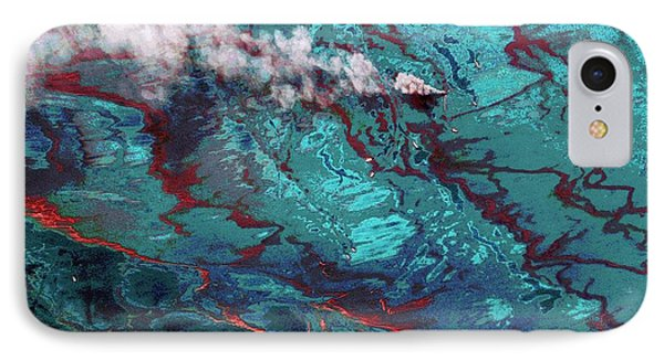 Gulf Of Mexico Oil Spill IPhone Case by Digital Globe