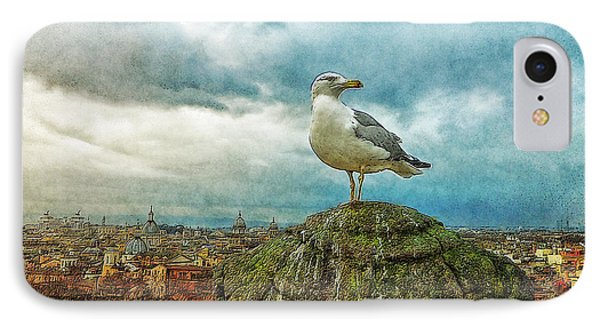 Gull Over Rome Phone Case by Jack Zulli