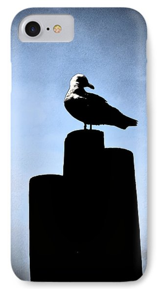 IPhone Case featuring the digital art Gull Silhouette by Kathleen Stephens