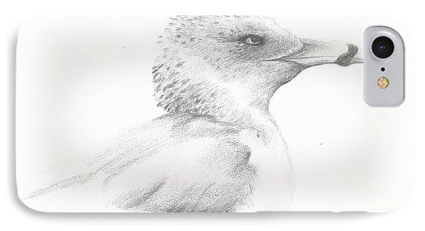 IPhone Case featuring the drawing Gull Study by Meagan  Visser