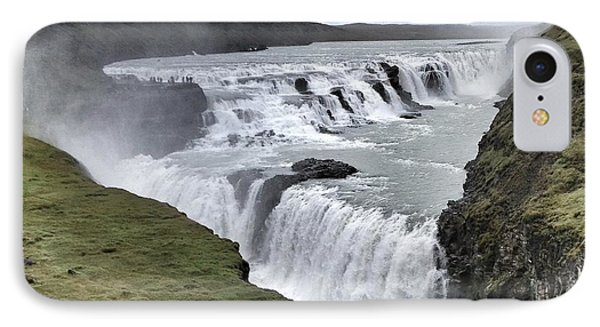 Gullfoss Falls Sw Iceland IPhone Case by John Potts