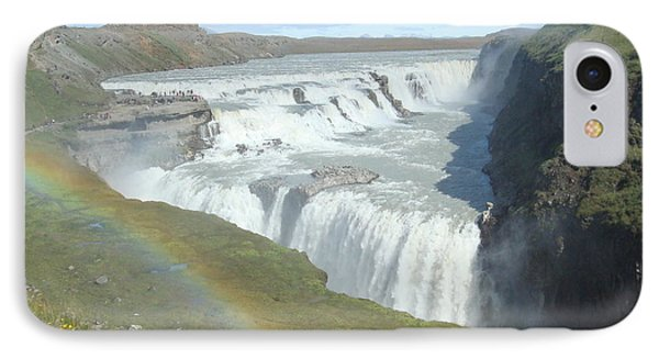 Gullfoss Waterfall IPhone Case by Kay Gilley