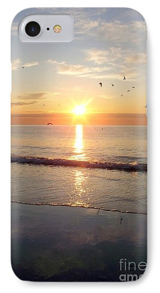 Gulls Dance In The Warmth Of The New Day Phone Case by Eunice Miller