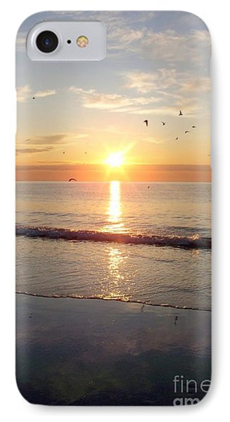 IPhone Case featuring the photograph Gulls Dance In The Warmth Of The New Day by Eunice Miller
