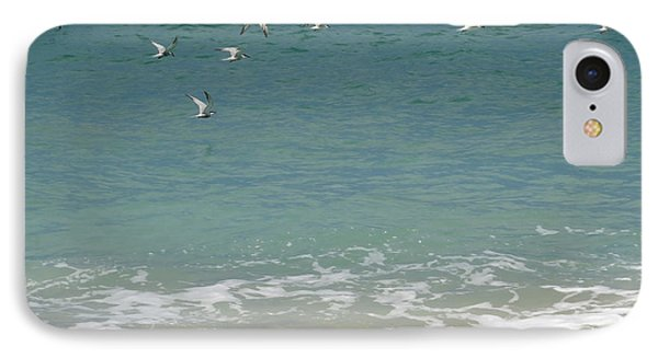 Gulls Flying Over The Ocean Phone Case by Zina Stromberg