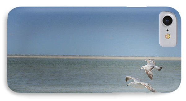 IPhone Case featuring the photograph Gulls In Flight by Erika Weber