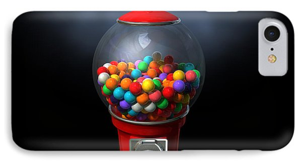 Gumball Dispensing Machine Dark Phone Case by Allan Swart