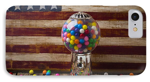 Gumball Machine And Old Wooden Flag IPhone Case