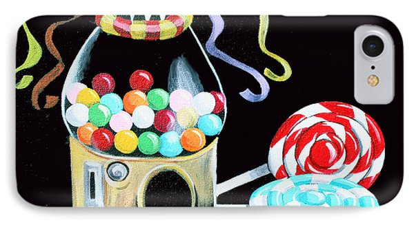 Gumball Machine And The Lollipops IPhone Case by Shelley Overton