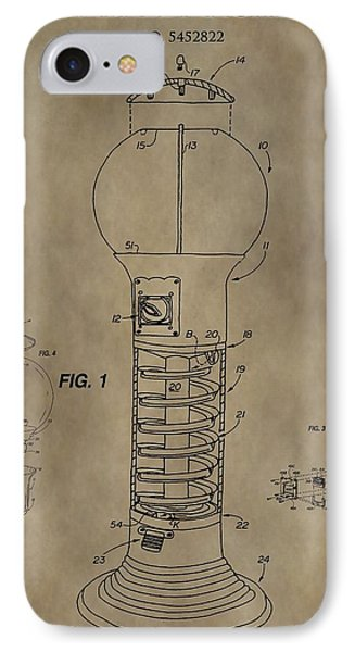 Gumball Machine Patent IPhone Case by Dan Sproul