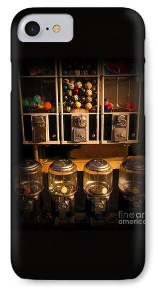 Gumball Memories - Row Of Antique Vintage Vending Machines - Iconic New York City IPhone Case by Miriam Danar