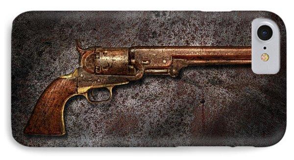 Gun - Colt Model 1851 - 36 Caliber Revolver Phone Case by Mike Savad