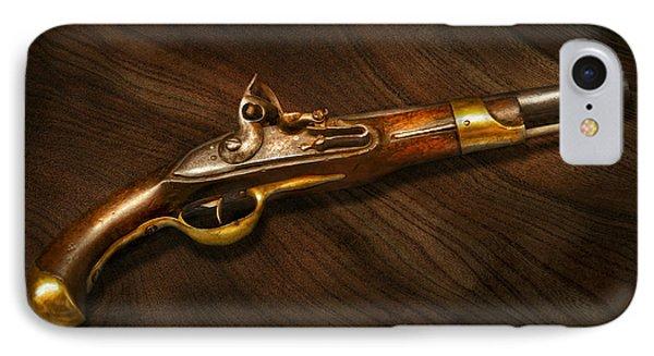 Gun - Pistols At Dawn IPhone Case by Mike Savad