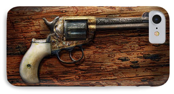 Gun - Police - True Grit Phone Case by Mike Savad