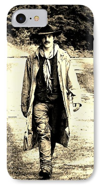 IPhone Case featuring the photograph Gunslinger by B Wayne Mullins